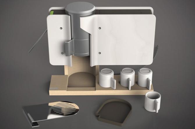 Espresso 44 Coffee Machine Boaz Zemer Industrial Design
